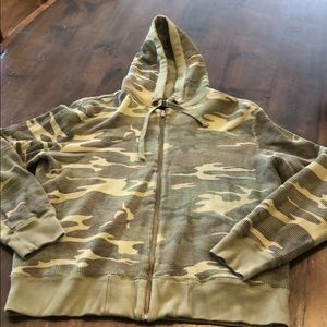 NWOT Lucky Brand  Camo Thermal hoody  jacket large